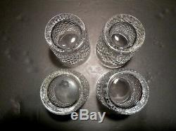 VINTAGE Waterford Crystal ALANA (1952-) Set of 4 Double Old Fashioned 4 3/8