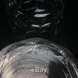 Val St Lambert Uni Double Old Fashioned Tumblers Crystal Glasses 4 (2)