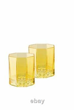 Versace Medusa Lumiere Amber Whiskey Double Old Fashioned DOB Set of 2