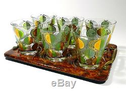 Vintage Cocktail Glasses Double Old Fashioned Tumbler Glass Set Of 6