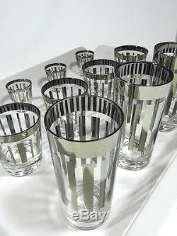 Vintage Double Old Fashioned Tumbler Glasses Set Of 12