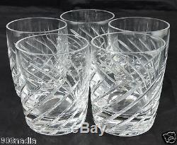 Vintage Lenox Double Old Fashioned Rocks Brandy Crystal Glass Set 5