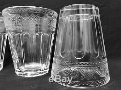 Vintage Ralph Lauren Crystal Emma Set of 8 Double Old Fashioned RARE