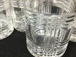 Vintage Ralph Lauren Glen Plaid Double Old Fashioned Whiskey Glasses Set Of 4