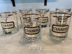 Vintage Retro Name Your Poison Glasses Double old fashioned Whiskey Cora Cera