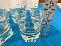 Vintage Set of 7 Rosenthal crystal SKAL clear Double Old Fashioned