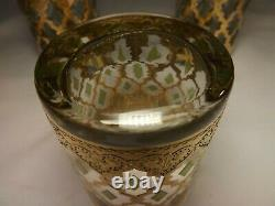 Vtg Set of 6 CULVER Valencia 22k Gold Double Old Fashioned Cocktail Glasses