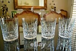 Vtg. WATERFORD Crystal KYLEMORE Cut Set of 4 Double Old Fashioned Whisky Tumblers