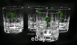 WATERFORD Barware Double Old Fashioned Cut Crystal 12 oz Set of 4 NEW