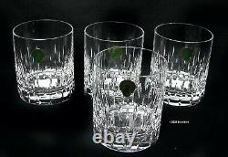 WATERFORD Barware Double Old Fashioned Enis 12 oz Set of 4 NEW