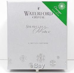 WATERFORD CRYSTAL Courage EMERALD NWOT SNOWFLAKE WISHES Double Old Fashioned