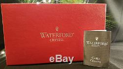 Waterford Crystal Snow Crystals Dof Double Old Fashioned Pair Nib Ruby Glasses