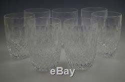 WATERFORD Ireland CRYSTAL COLLEEN SET OF 6 DOUBLE OLD FASHIONED, TUMBLERS, 12oz