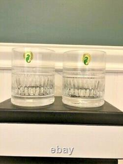 WATERFORD ROLLY POLLY Double Old Fashioned Glass SET of 2 BNWT