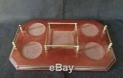 WEDGWOOD Crystal Decanter With 4 Double Old Fashioned & Tray