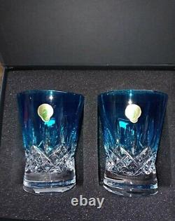 Waterford 40019541 Lismore Aqua Pops 2-Double Old Fashioned Cocktail Glasses