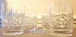 Waterford 8 glass set, Cut Crystal Double Old Fashioned 12oz Vintage Original