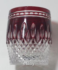 Waterford CLARENDON RUBY RED double OLD FASHIONED or WHISKEY glass, 2 available