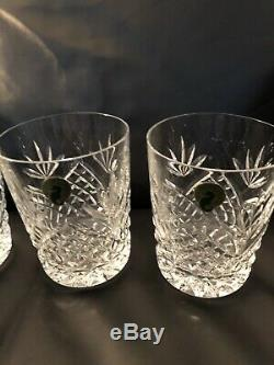 Waterford Ciara Double Old Fashioned Glasses Never USED Label Attached MINT