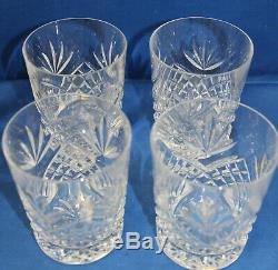 Waterford Ciara Double Old Fashioned Set of 4 Lightly Used (Lightly Scratched)