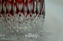 Waterford Clarendon Ruby (2) Double Old Fashioned, 4 New in Box withTags
