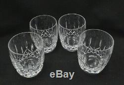 Waterford Crystal 4 Double Old Fashioned Glasses, 4 1/4