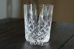 Waterford Crystal ARAGLIN 2 Double Old Fashioned Whiskey Glasses 4-3/8