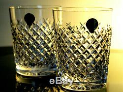 Waterford Crystal Alana Whisky Tumbler Set of 2 Double Old Fashioned 12 Oz New