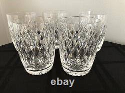 Waterford Crystal Boyne Set Of 5 Double Old Fashioned Tumblers 12oz Glasses
