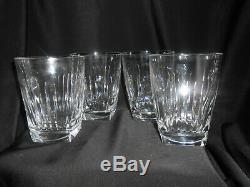 Waterford Crystal Clarion Set Of 4 Double Old Fashioned Glasses