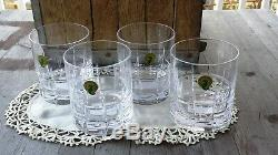 Waterford Crystal Cluin Double Old Fashioned Glasses Set of Four New