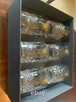 Waterford Crystal Connoisseur Heritage Double Old Fashioned Glasses/Set of 6/New
