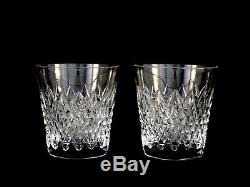 Waterford Crystal Crosshaven DOF Double Old Fashioned Glasses Tumblers Mint