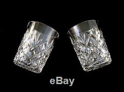 Waterford Crystal Drogheda DOF Double Old Fashioned Glasses Tumblers in Box