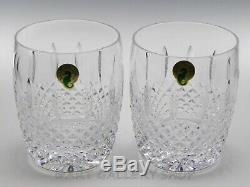 Waterford Crystal GLENMEDE 4-1/4 PAIR DOUBLE OLD FASHIONED GLASSES Unused