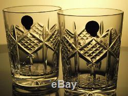 Waterford Crystal Grainne Tumbler Double Old Fashioned Pair Brand New Rare