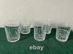 Waterford Crystal KYLEMORE Double Old Fashioned Glasses Set of 5 Free Shipping