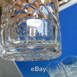 Waterford Crystal Lismore 6 Double Old Fashioned Tumblers Glasses