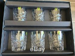 Waterford Crystal Lismore Double Old Fashioned 12 oz Set of 6 in Gift Box