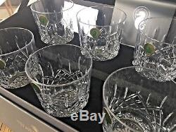 Waterford Crystal Lismore Double Old Fashioned Tumbler Set of 6 NEW 156437