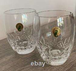 Waterford Crystal Lismore Essence Double Old Fashioned Glasses Pair