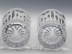 Waterford Crystal MILLENNIUM LOVE HEART 4-3/8 PAIR DOUBLE OLD FASHIONED GLASSES
