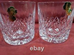 Waterford Crystal MOURNE DOF Double Old Fashioned Tumblers (2) mint Ireland