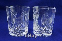Waterford Crystal Millennium (2) Five Universal Toasts Double Old Fashioned NIB