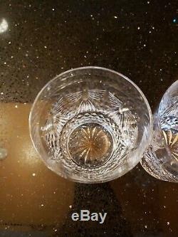 Waterford Crystal Millennium Pair Of Double Old Fashioned Glasses Peace