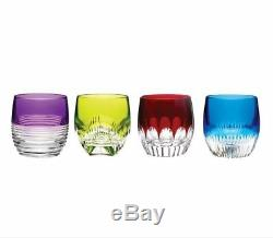 Waterford Crystal Mixology Coloured Double Old Fashioned Glasses