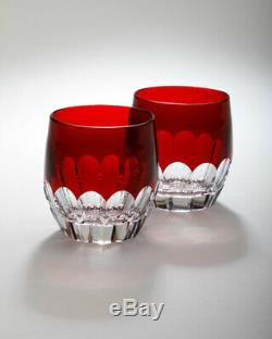 Waterford Crystal Mixology TALON RUBY RED SET/2 Tumbler/Double Old Fashioned