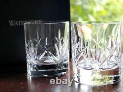 Waterford Crystal NIGHTFALL Whiskey Tumbler Pair Double Old Fashioned