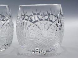 Waterford Crystal SEAHORSE PAIR DOUBLE OLD FASHIONED GLASSES Signed Eugene Young