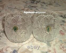Waterford Crystal Seahorse Double Old Fashioned Set of Two NEW in Box Last Set